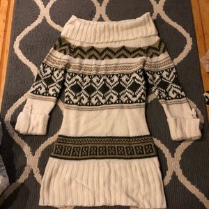 Abercrombie and Fitch Cowl neck sweater dress